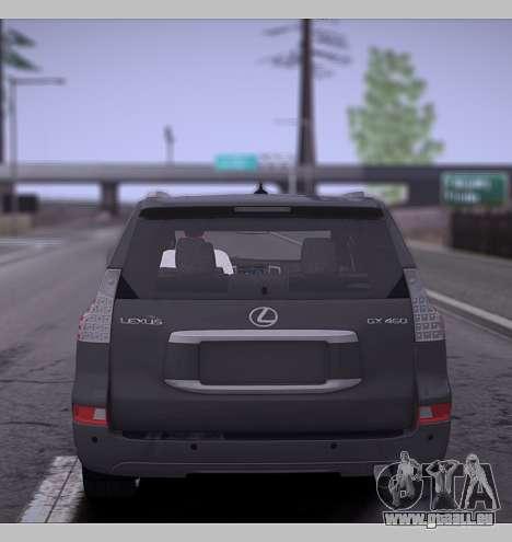 Lexus GX460 2014 pour GTA San Andreas vue de droite