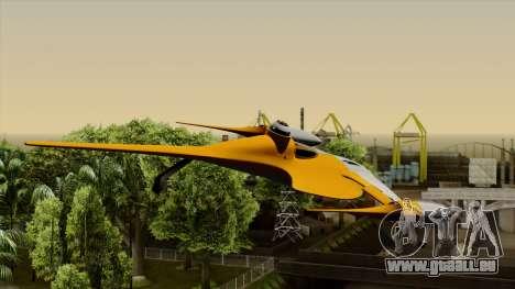 Star Wars N-1 Naboo Starfighter für GTA San Andreas Rückansicht