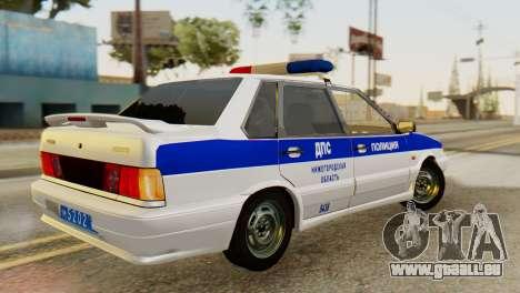 VAZ 2115 DPS für GTA San Andreas zurück linke Ansicht