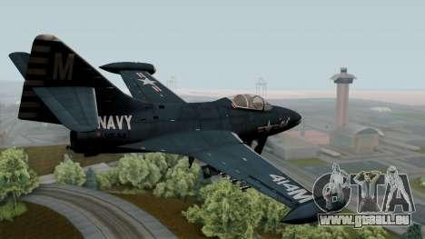 Grumman F9F-5 Phanter pour GTA San Andreas laissé vue