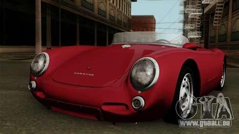 Porsche 550A Spyder 1956 pour GTA San Andreas