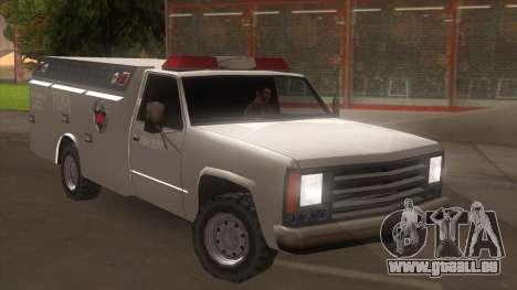 FDSA Fire Van pour GTA San Andreas sur la vue arrière gauche