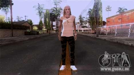 La peau de fille pour GTA San Andreas deuxième écran