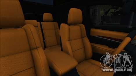 Jeep Grand Cherokee SRT8 pour GTA San Andreas vue intérieure