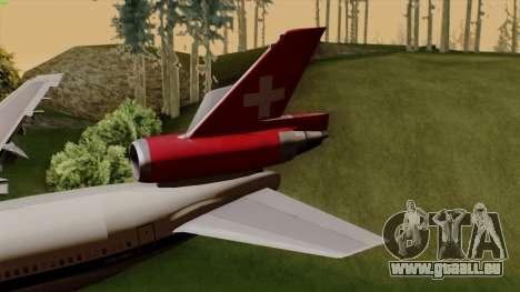 DC-10-30 Swissair pour GTA San Andreas sur la vue arrière gauche