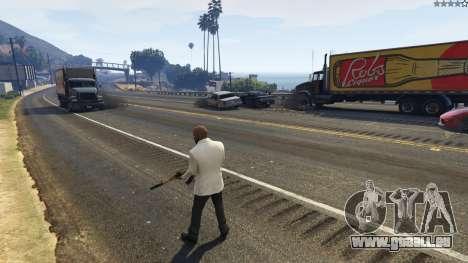 GTA 5 L'explosion a laissé les pneus de voitures à pro quatrième capture d'écran