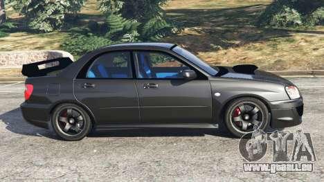 GTA 5 Subaru Impreza WRX STI 2005 linke Seitenansicht