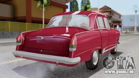 GAZ 21 Volga v3 pour GTA San Andreas laissé vue