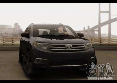 Toyota Highlander 2011 pour GTA San Andreas vue de côté