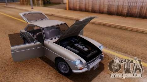 MGB GT (ADO23) 1965 FIV АПП pour GTA San Andreas vue intérieure