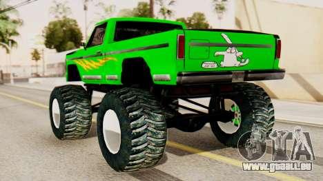 Monster New Texture pour GTA San Andreas laissé vue