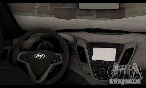 Hyundai Veloster 2012 pour GTA San Andreas vue intérieure
