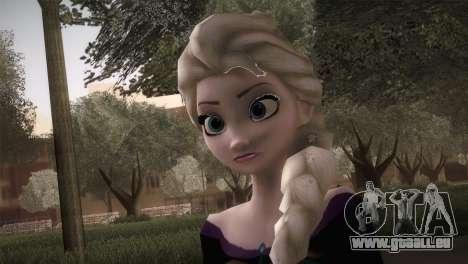 Elsa Frozen HQ Dress pour GTA San Andreas