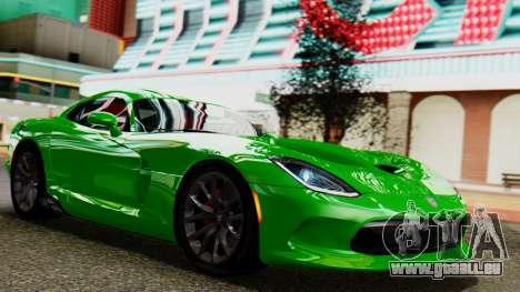 Dodge Viper SRT GTS 2013 IVF (MQ PJ) No Dirt für GTA San Andreas
