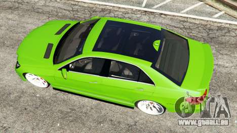 GTA 5 Mercedes-Benz E63 (W212) AMG v1.1 vue arrière