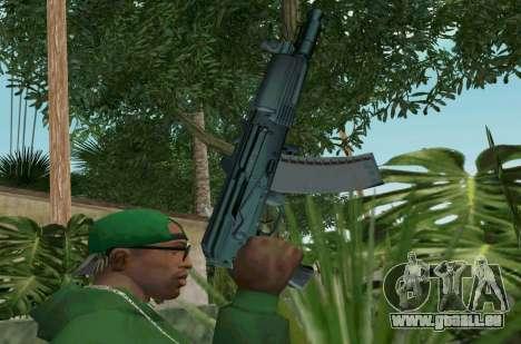 L'AKS-74U pour GTA San Andreas troisième écran