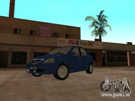 Dacia Logan Prestige pour GTA San Andreas laissé vue