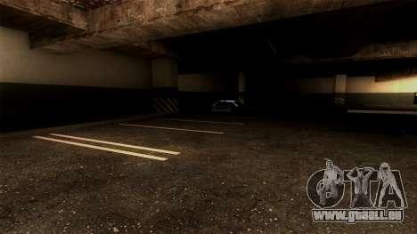 Nouveau LSPD Parking pour GTA San Andreas quatrième écran