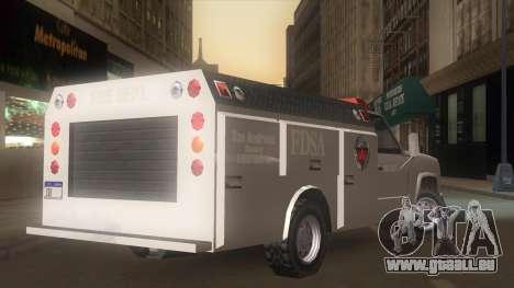 FDSA Fire Van pour GTA San Andreas laissé vue