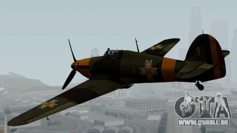 Hawker Hurricane Mk1 - Romania Nr. 1 pour GTA San Andreas laissé vue