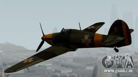 Hawker Hurricane Mk1 - Romania Nr. 1 für GTA San Andreas linke Ansicht