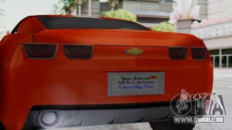NFS Carbon Chevrolet Camaro IVF für GTA San Andreas rechten Ansicht