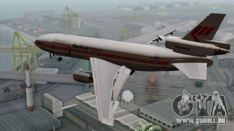 DC-10-30 Martinair für GTA San Andreas linke Ansicht