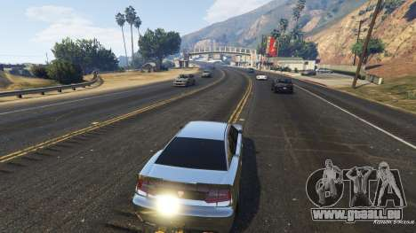 GTA 5 Realistischer Geschwindigkeit Auto 1.3 dritten Screenshot