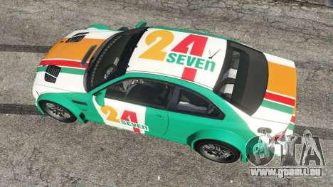 GTA 5 BMW M3 GTR E46 PJ3 Rückansicht