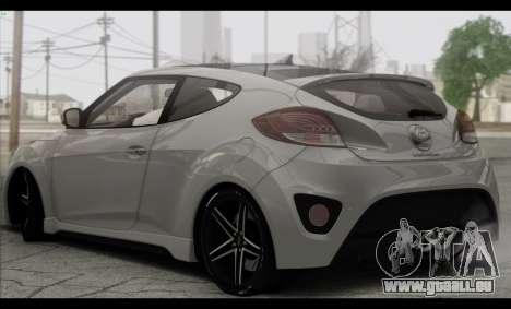Hyundai Veloster 2012 pour GTA San Andreas vue de droite