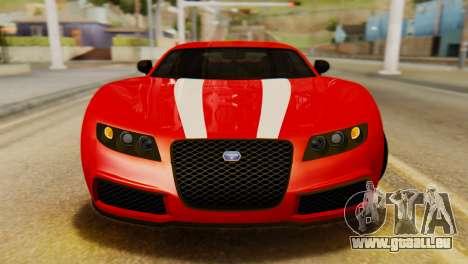 GTA 5 Adder Secondary Color Tire Dirt für GTA San Andreas Rückansicht
