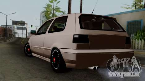 Volkswagen Golf 3 Shine pour GTA San Andreas laissé vue