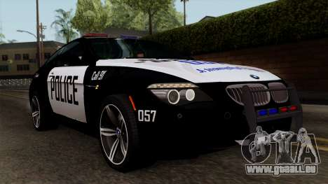 BMW M6 E63 Police Edition für GTA San Andreas
