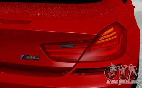 BMW M6 2013 v1.0 pour GTA San Andreas vue de dessus