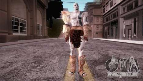 God Of War 3 Kratos Blue für GTA San Andreas zweiten Screenshot