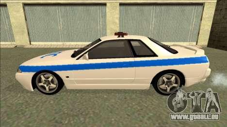 Nissan Skyline R32 Russian Police für GTA San Andreas Innen
