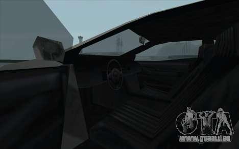 GTA 3 Infernus SA Style pour GTA San Andreas vue intérieure