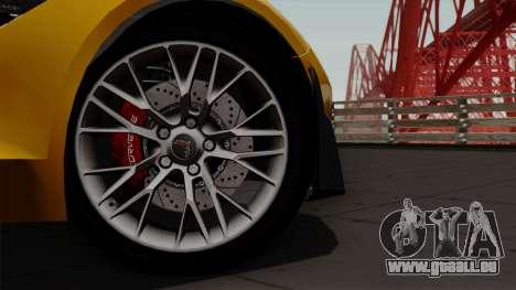 Chevrolet Corvette Z06 1.0.1 pour GTA San Andreas vue de droite