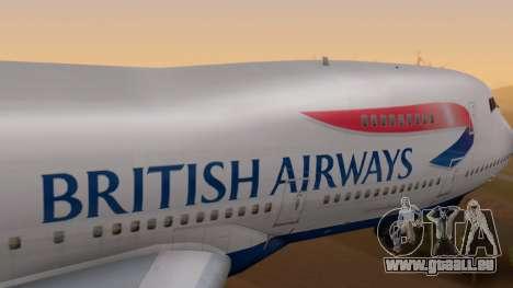 Boeing 747-200 British Airways für GTA San Andreas rechten Ansicht