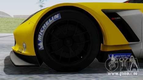 Chevrolet Corvette C7R GTE 2014 PJ1 pour GTA San Andreas sur la vue arrière gauche
