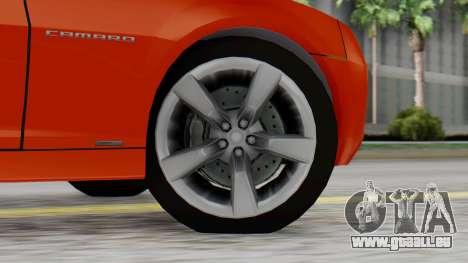 NFS Carbon Chevrolet Camaro IVF pour GTA San Andreas sur la vue arrière gauche