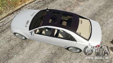 GTA 5 Mercedes-Benz S500 W221 v0.3 [Alpha] vue arrière