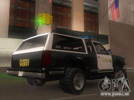 Yosemite Police 2015 pour GTA San Andreas laissé vue
