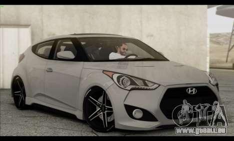 Hyundai Veloster 2012 pour GTA San Andreas moteur