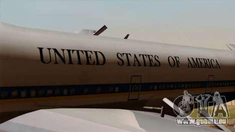 Boeing 747 Air Force One für GTA San Andreas Rückansicht