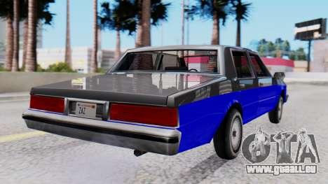 Chevrolet Caprice 1980 SA Style Civil pour GTA San Andreas laissé vue
