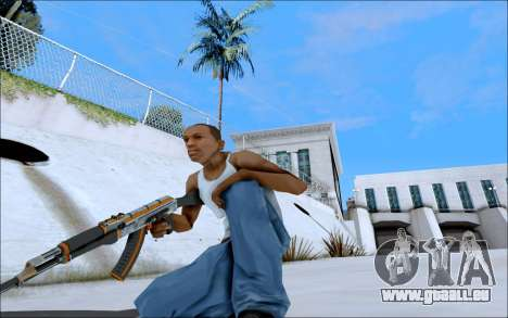 AK-47 Carbone Edition für GTA San Andreas her Screenshot