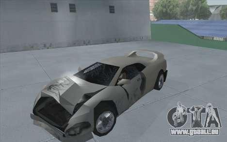 GTA 3 Infernus SA Style pour GTA San Andreas sur la vue arrière gauche