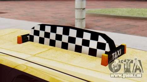 Landstalker Taxi SR 4 Style Flatshadow pour GTA San Andreas vue de droite