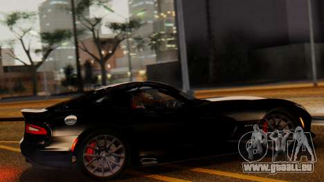 Dodge Viper SRT GTS 2013 IVF (MQ PJ) LQ Dirt pour GTA San Andreas laissé vue